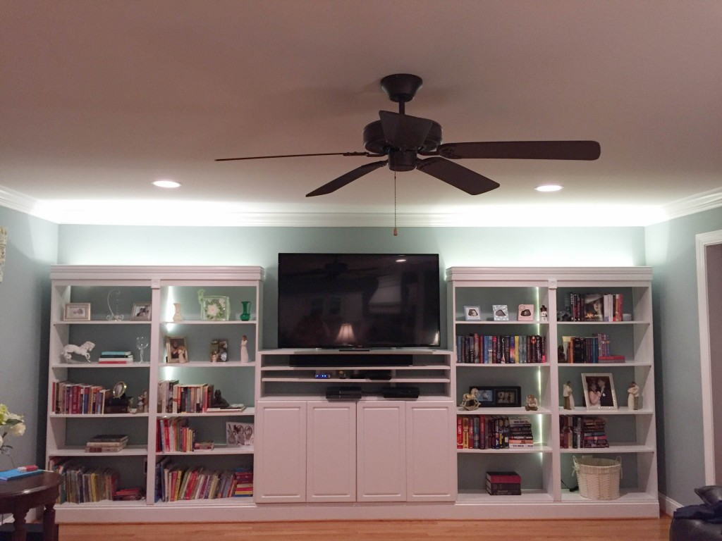 Our DIY Built-in Bookshelves Project